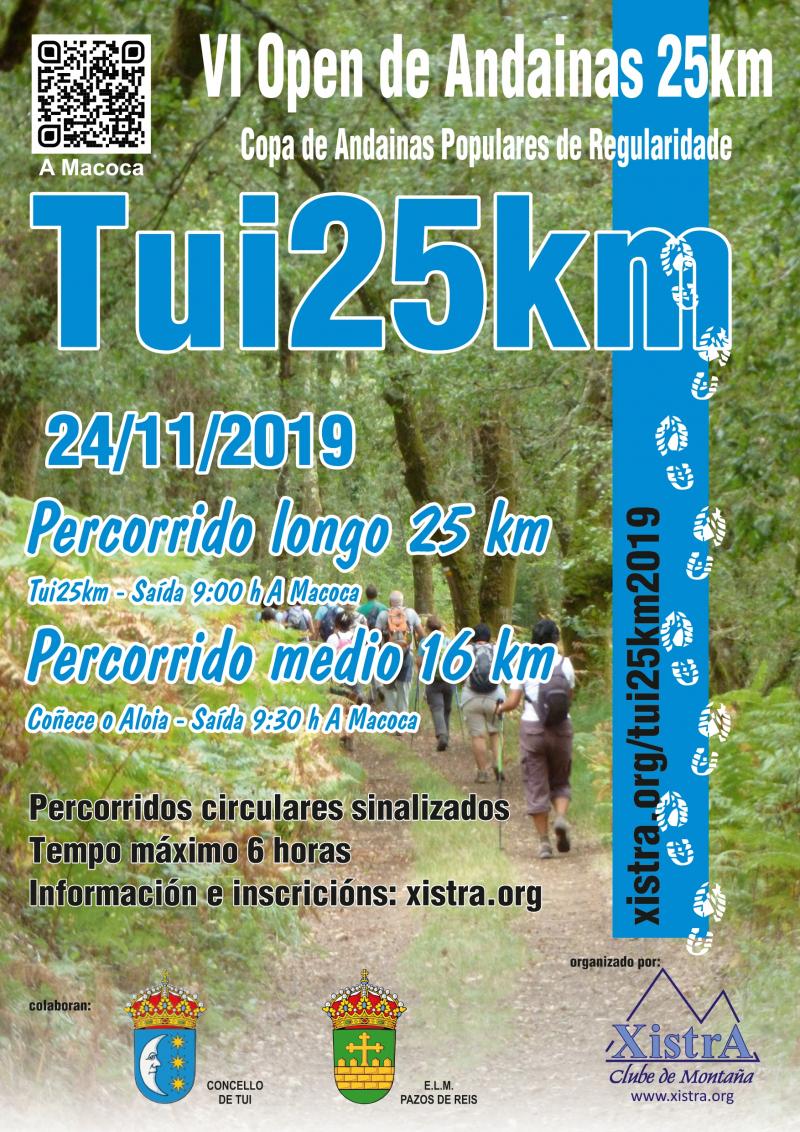 VI OPEN DE ANDAINAS 25 KM DE REGULARIDADE - TUI 25KM - Inscríbete