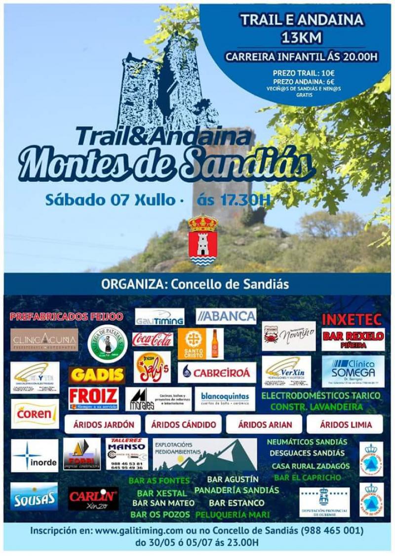 III TRAIL + II ANDAINA MONTES DE SANDIÁS - 2018 - Inscríbete