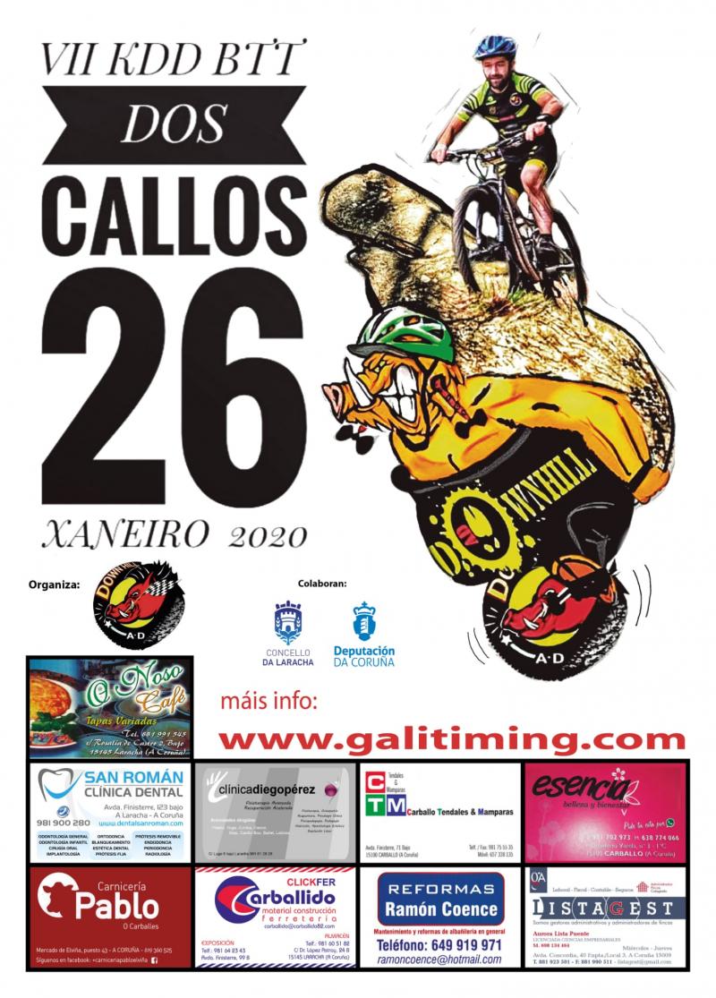 Cartel del evento VII KDD BTT DOS CALLOS  2020- A LARACHA