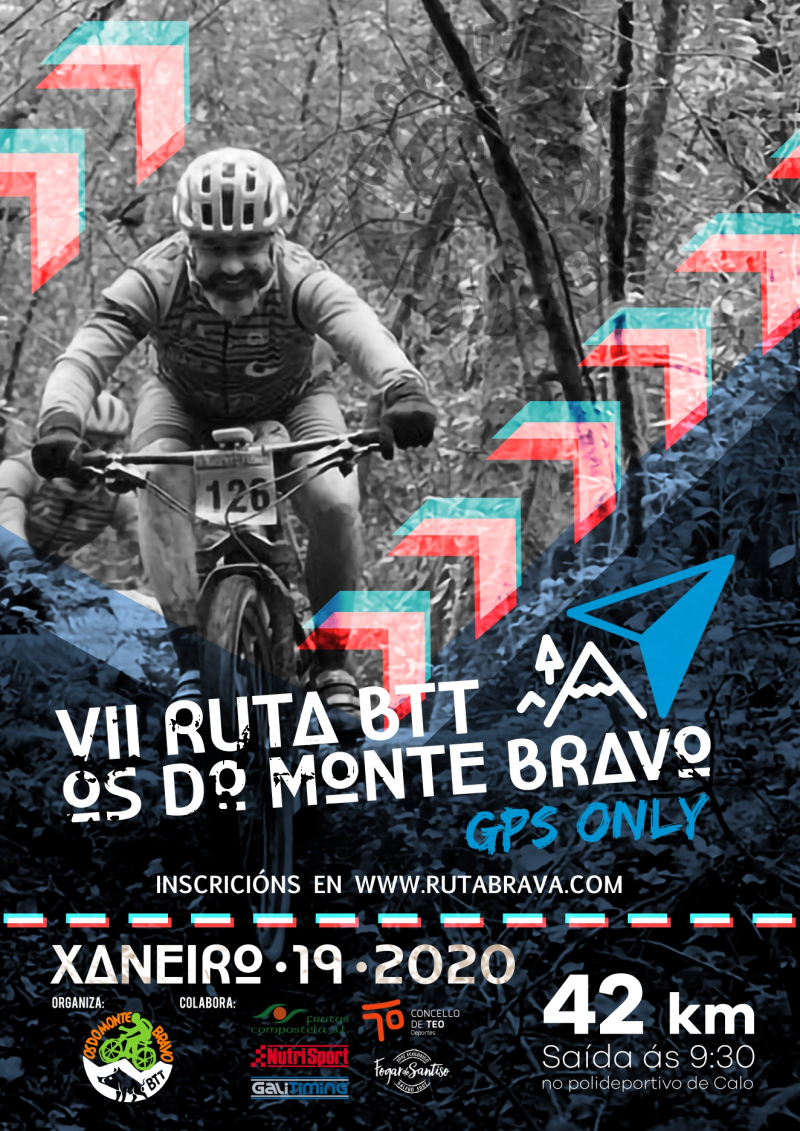 Cartel del evento VII RUTA BTT OS DO MONTE BRAVO - 2020