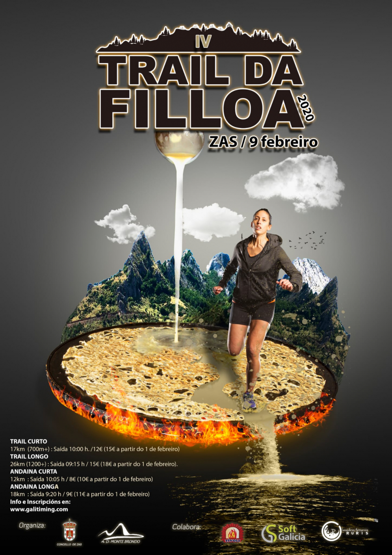 Cartel del evento IV TRAIL DA FILLOA - ZAS