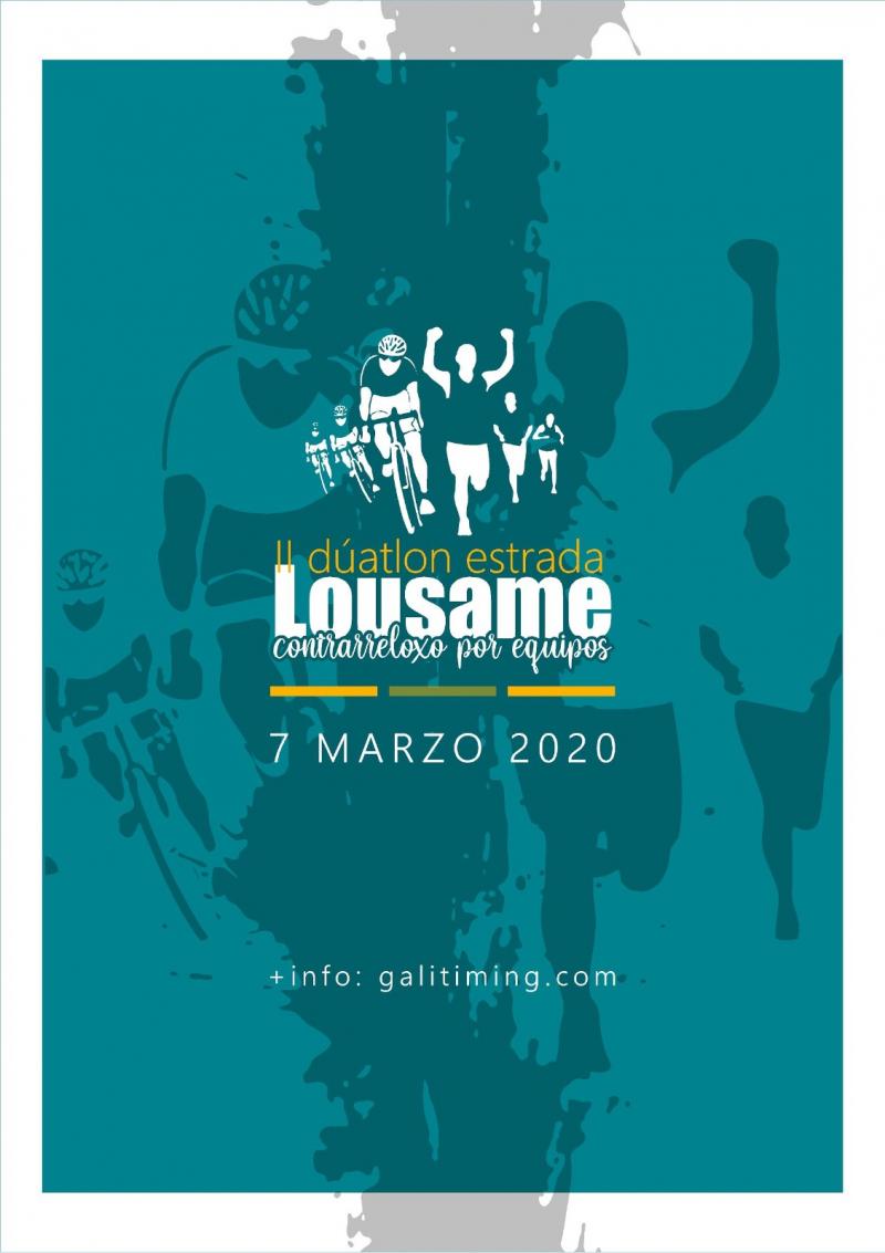 Cartel del evento II DUATHLON CONTRARRELOXO CARRETERA POR EQUIPOS - LOUSAME
