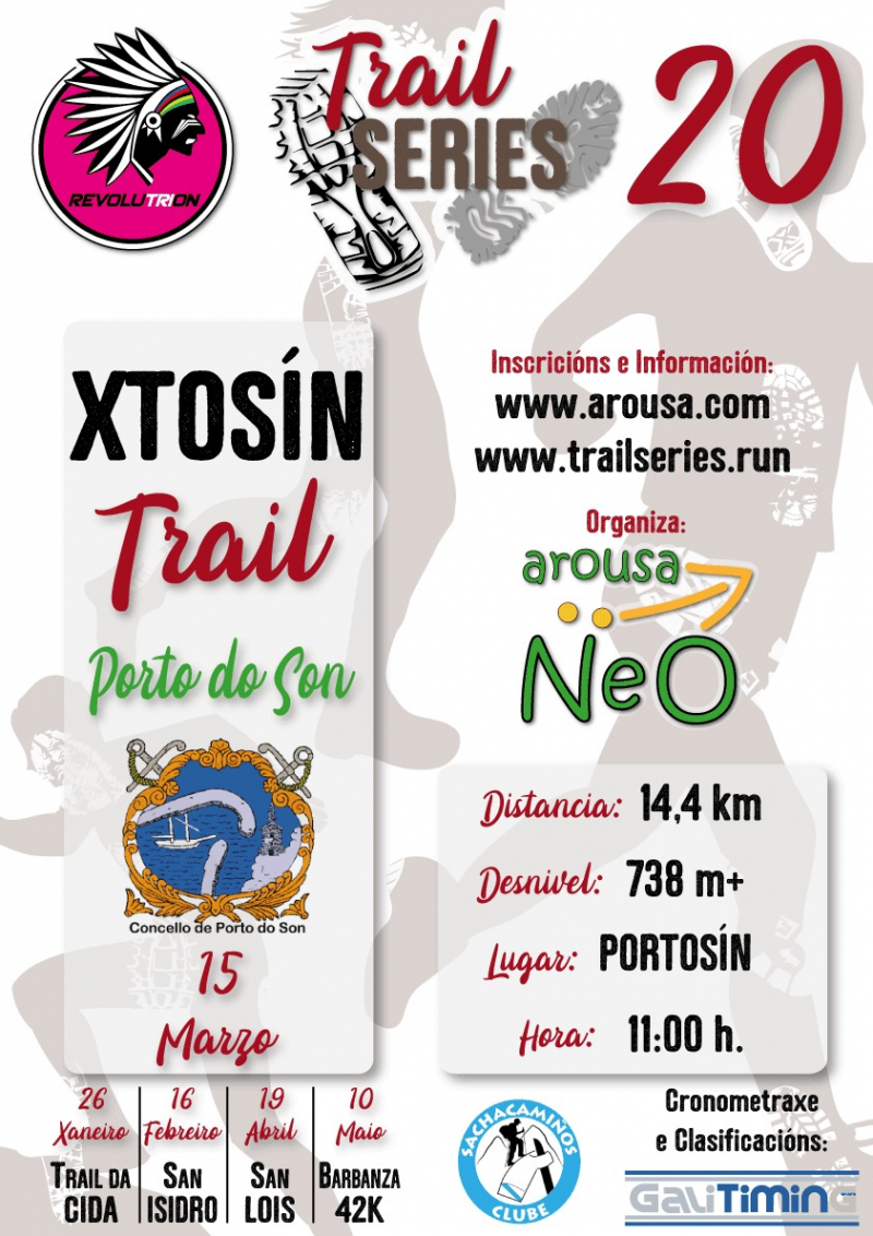 Cartel del evento REVOLUTRION TRAIL SERIES 2020 - XTOSÍN TRAIL