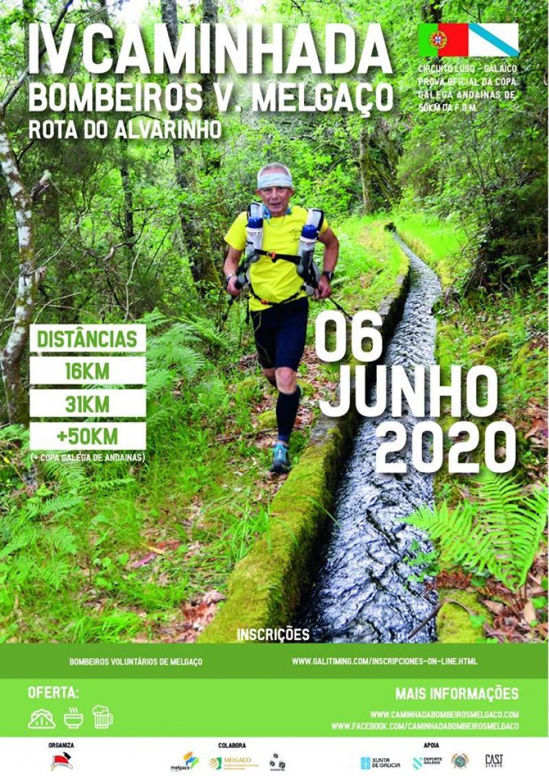 Cartel del evento III CAMINHADA B.V. MELGAÇO 2020