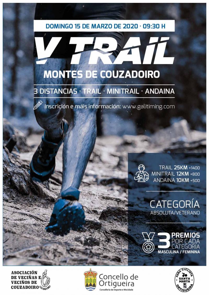 Cartel del evento V CARREIRA DE MONTAÑA/ANDAINA - MONTES DE COUZADOIRO 2020