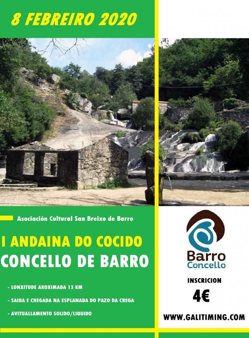 Cartel del evento I ANDAINA DO COCIDO DO CONCELLO DE BARRO