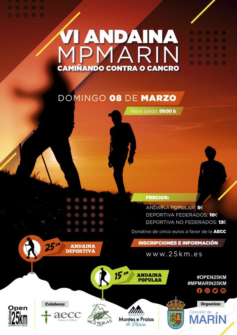 Cartel del evento VII OPEN DE ANDAINAS 25 KM DE REGULARIDADE - ANDAINA MONTES E PRAIAS DE MARIN