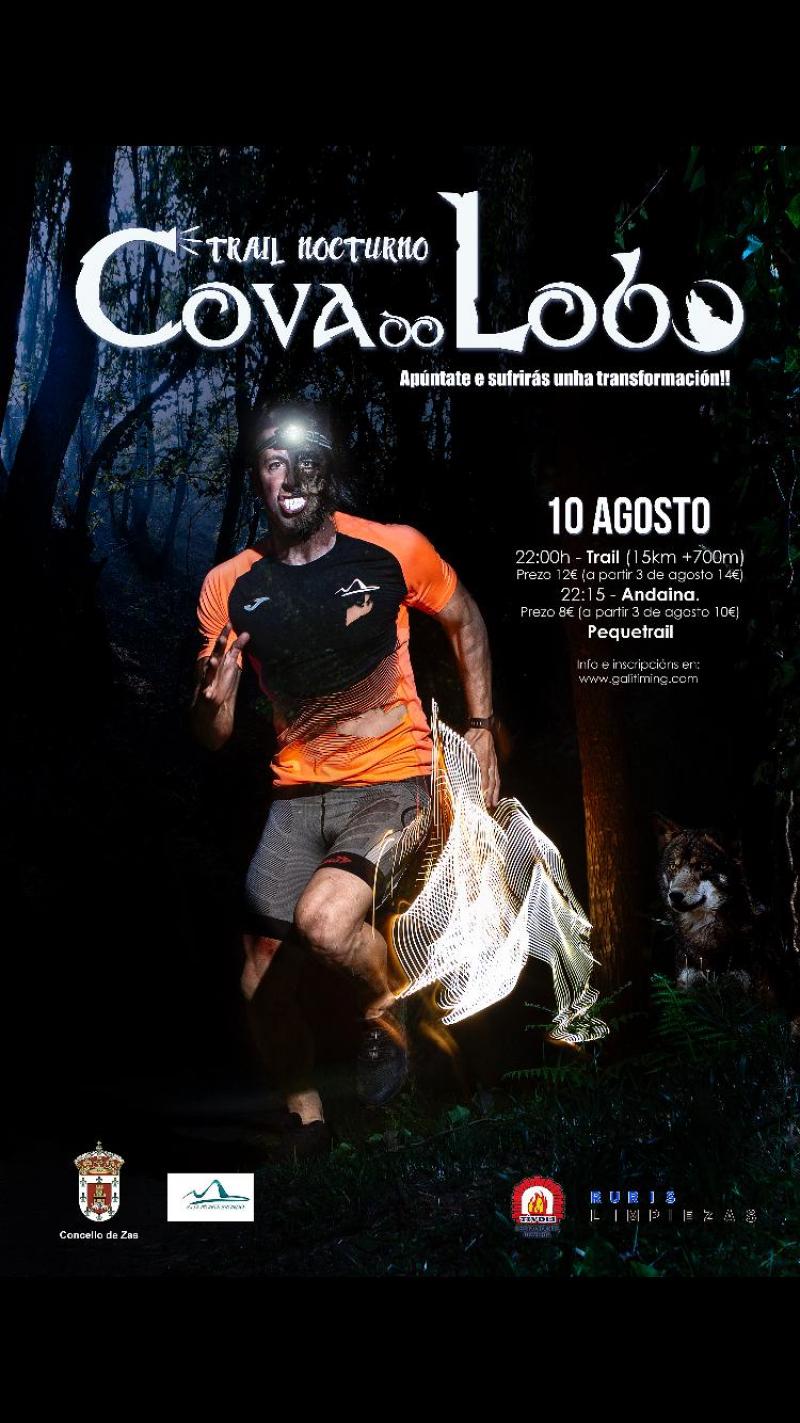 Cartel del evento IV TRAIL NOCTURNO COVA DO LOBO (ZAS)