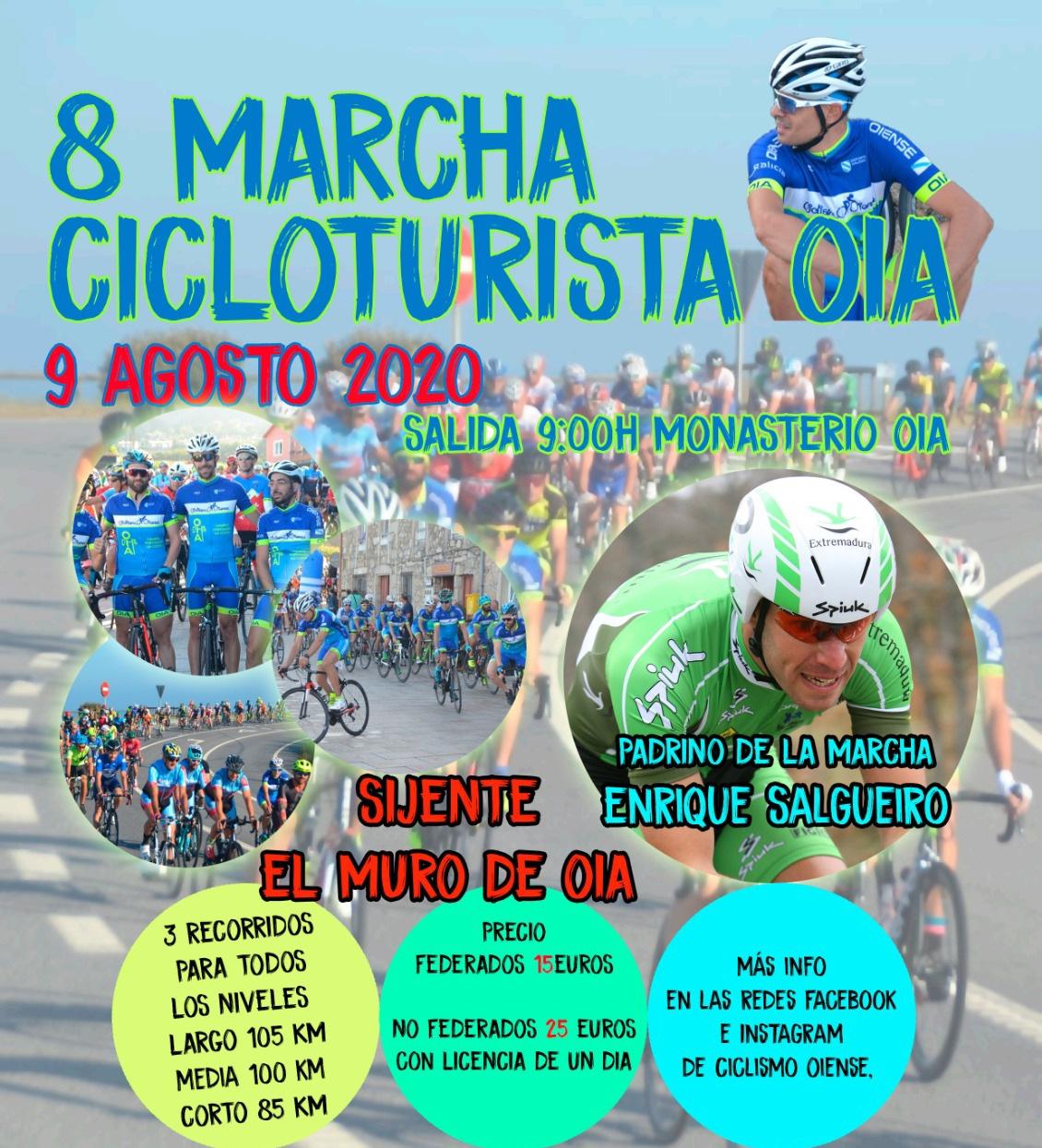 Cartel del evento 8 MARCHA CICLOTURISTA OIA