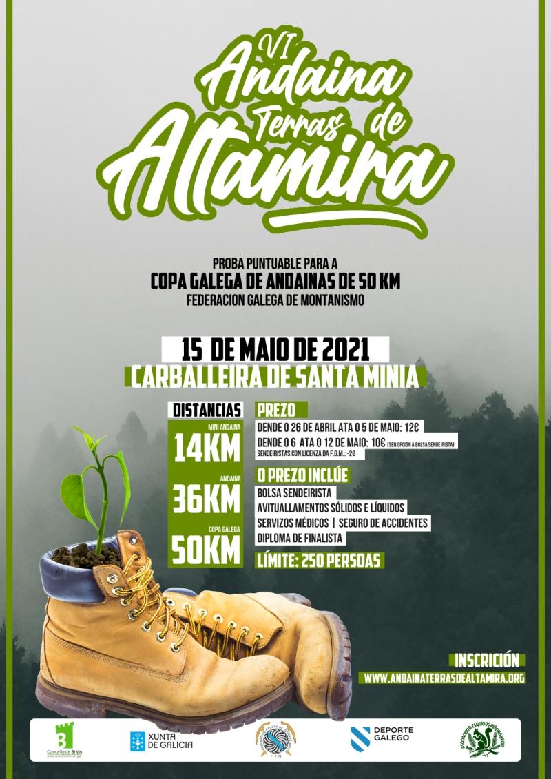 Cartel del evento VI ANDAINA TERRAS DE ALTAMIRA - BRION