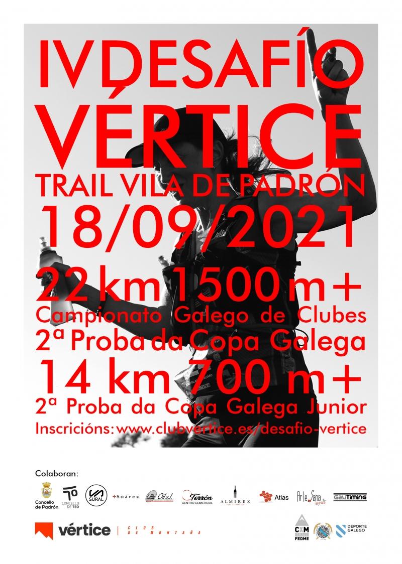 Event Poster IV TRAIL VILA DE PADRÓN - DESAFÍO VÉRTICE 2021