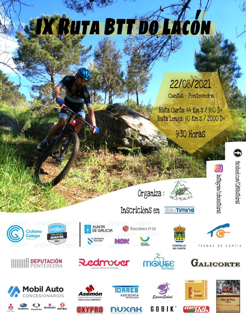 Event Poster IX RUTA BTT DO LACÓN – CUNTIS 2021